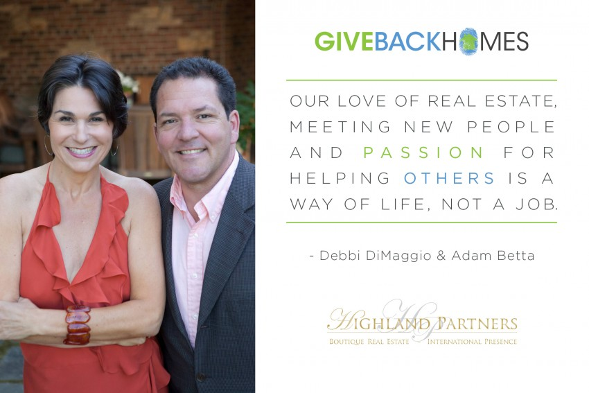 Giveback Homes Debbi DiMaggio and Adam Logo